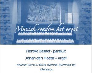 De Wijnstok te Dordrecht panfluit en orgelconcert