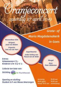 Maria Magdalenakerk in Goes oranjeconcert