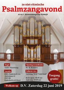 Ouderkerk psalmzangavond met bovenstemgroep Katwijk