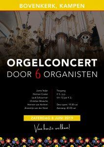 Amateur-organisten concerteren in de Bovenkerk van Kampen
