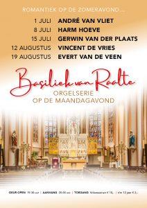Evert van de Veen orgelconcert in de Basiliek van Raalte