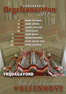 Arjen Leistra geeft concert in de Grote kerk te Vollenhove