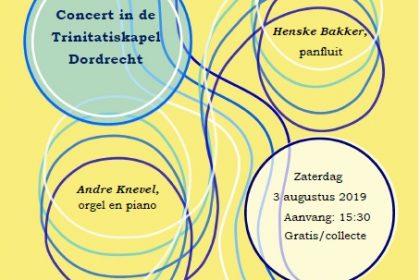 Andre Knevel en Henske Bakker in de Trinitatiskapel te Dordrecht