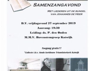 Triumfatorkerk te Katwijk samenzangavond 2019