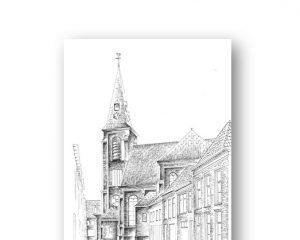 Grote kerk te Genemuiden psalmen zingen naar de zondag