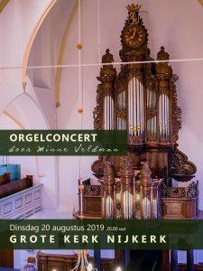 Grote kerk te Nijkerk orgelconcert Minne Veldman