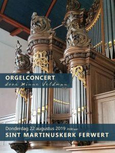 Sint Martinuskerk te Ferwert orgelconcert Minne Veldman