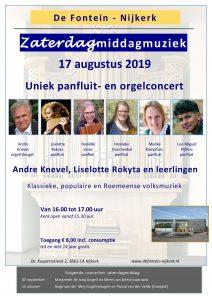 Zaterdagmiddagmuziek De Fontein met André Knevel en Liselotte Rokyta