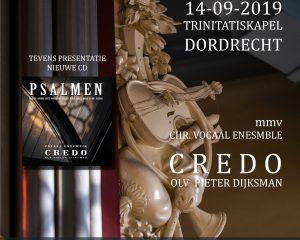 vocaal ensemble 'Credo' vanuit de Trinitatiskapel te Dordrecht