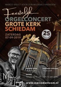 Grote kerk te Schiedam orgelconcert met Marco den Toom