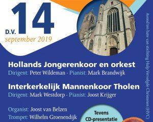 Grote kerk van Tholen concert Hollands Jongerenkoor