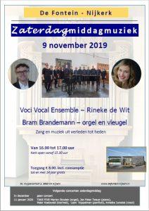De Fontein te Nijkerk zaterdagmiddagmuziek met Voci Vocal Ensemble