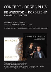 De Wijnstok te Dordrecht concert met cd presentaties