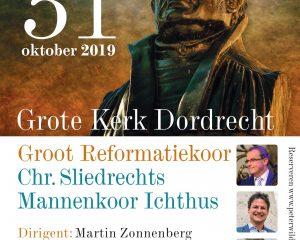 Grote kerk te Dordrecht reformatieconcert met Groot Reformatiekoor