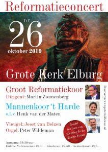 Grote kerk te Elburg reformatieconcert met Groot Reformatiekoor