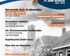 Hervormde kerk te Krabbendijke 75 jaar bevrijding