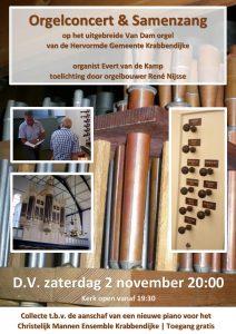 Hervormde kerk te Krabbendijke orgelconcert Evert van de Kamp