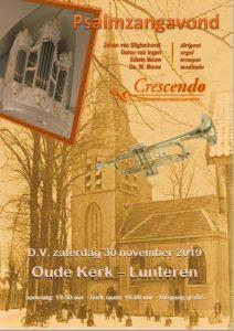 oude kerk te Lunteren psalmzangavond met Cresendo
