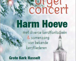 Grote kerk in Hasselt kerstconcert Harm Hoeve