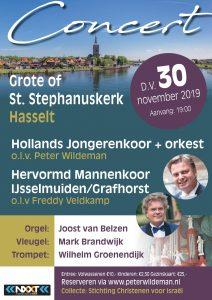 Grote kerk te Hasselt met het Hollands Jongerenkoor
