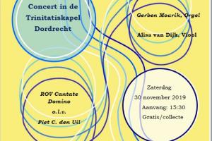 Trinitatiskapel te Dordrecht met ROV Cantate Domino