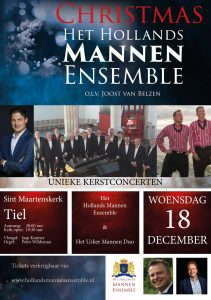 Christmas met het Hollands Mannenensemble in Tiel