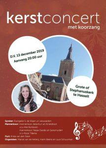 Grote kerk te Hasselt kerstconcert met koorzang