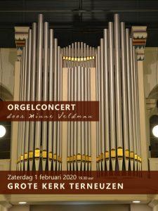 Grote kerk te Terneuzen orgelconcert met Minne Veldman