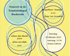 Koorconcert vanuit de Trinitatiskapel te Dordrecht