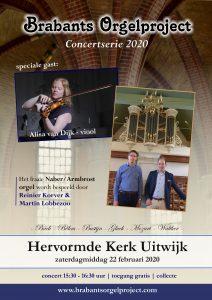 Uitwijk uniek concert in Hervormd kerkje 22 februari 2020
