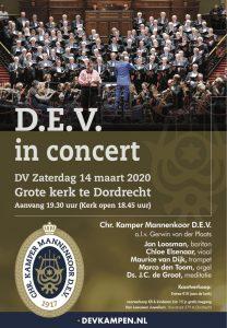 DEV in concert in de Grote kerk te Dordrecht