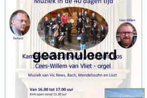Kamerkoor Vocaliber Zaterdagmiddagmuziek in de Fontein te Nijkerk