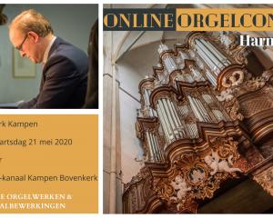 Online orgelconcert vanuit de bovenkerk op Hemelvaartsdag