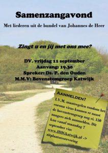 Triumfatorkerk te Katwijk samenzang Johannes de Heer