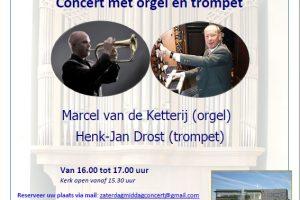 Zaterdagmiddagmuziek met orgel en trompet