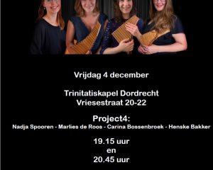 Concert met project 4 Trinitatiskapel te Dordrecht
