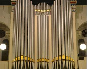Warno Ruting geeft orgelconcert in de Grote kerk van Terneuzen