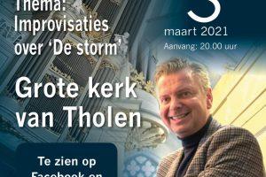 De storm unieke orgelstream met improvisaties door Peter Wildeman