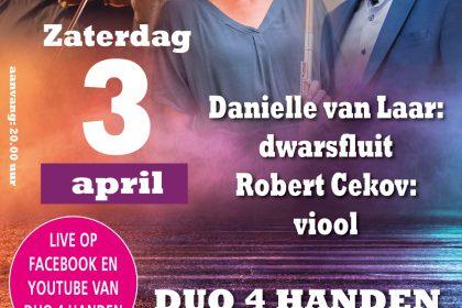Passie en paasconcert Duo 4 handen vanuit de Augustijnenkerk te Dordrecht