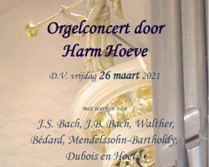Sionskerk te Terschuur orgelconcert met Harm Hoeve