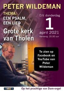 Thema een psalm en lied orgelimprovisaties Grote kerk van Tholen