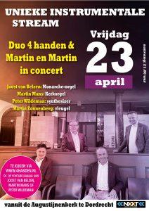Martin en Martin en Duo 4 handen in concert op 23-4-2021