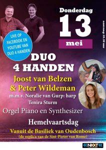 Basiliek van Oudenbosch op Hemelvaartsdag met Duo 4 handen