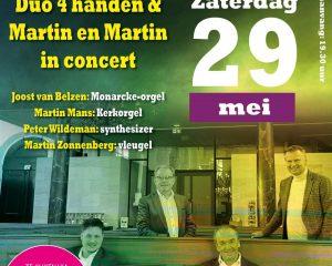 Feestelijk programma met Duo 4 handen en Martin en Martin vanuit Dordrecht