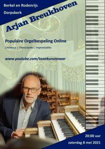 Populaire Orgelbespeling online met Arjan Breukhoven