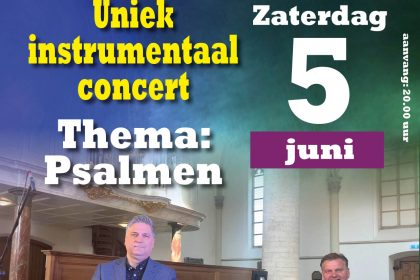 Robert Cekov en Peter Wildeman geven concert over psalmen