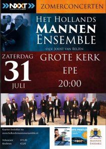 Grote kerk te Epe concert met het Hollands Mannenensemble