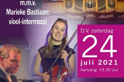 Marieke Bastiaan en Peter Wildeman in concert te Marienberg