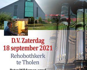 Rehobothkerk te Tholen psalmzangavond voor de ZGG