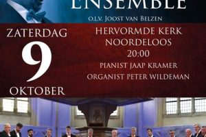 Hervormde kerk te Noordeloos met het Hollands Mannenensemble